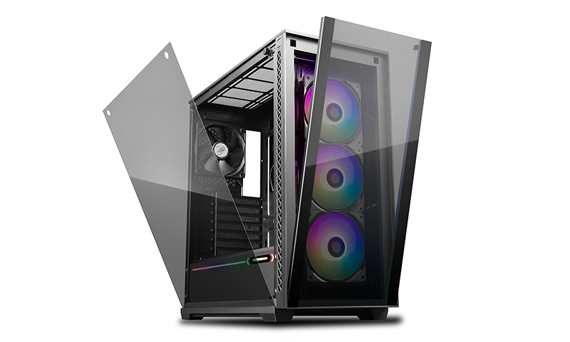 Deepcool MATREXX 70 ADD-RGB 3F Full Sized Tempered Glass ARGB Case, 3 Preinstalled ARGB Fans