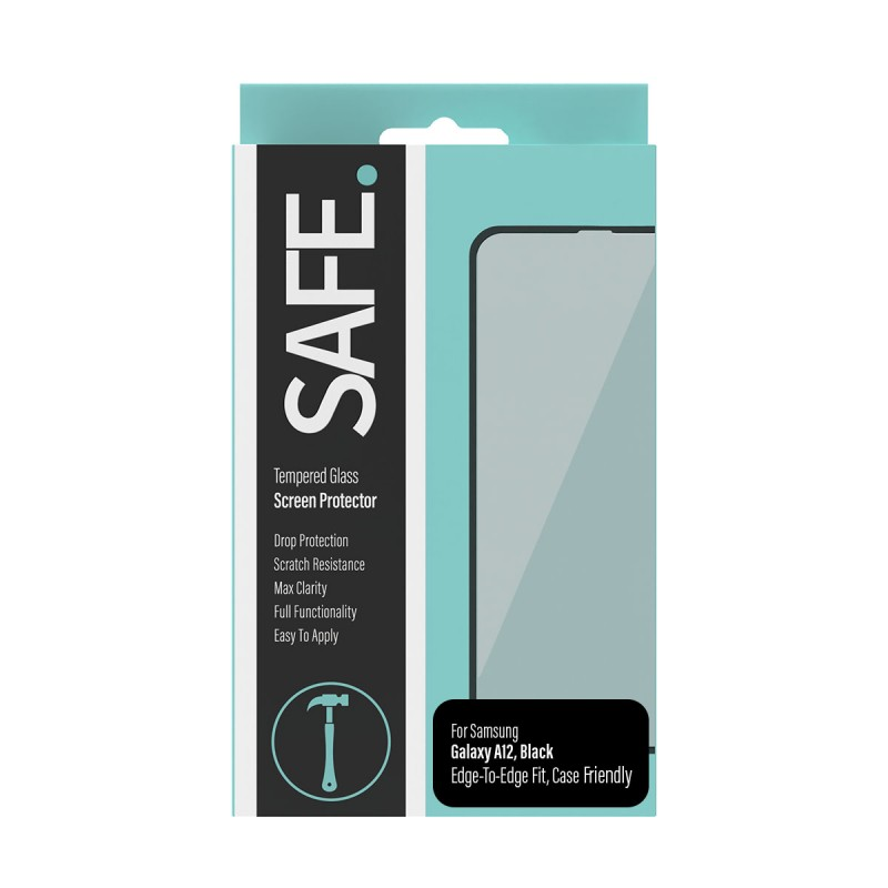 SAFE Tempered Glass Screen Protector - Case Friendly - for Samsung Galaxy A12 - Drop Protective, Scratch Resistance, Max Clarity